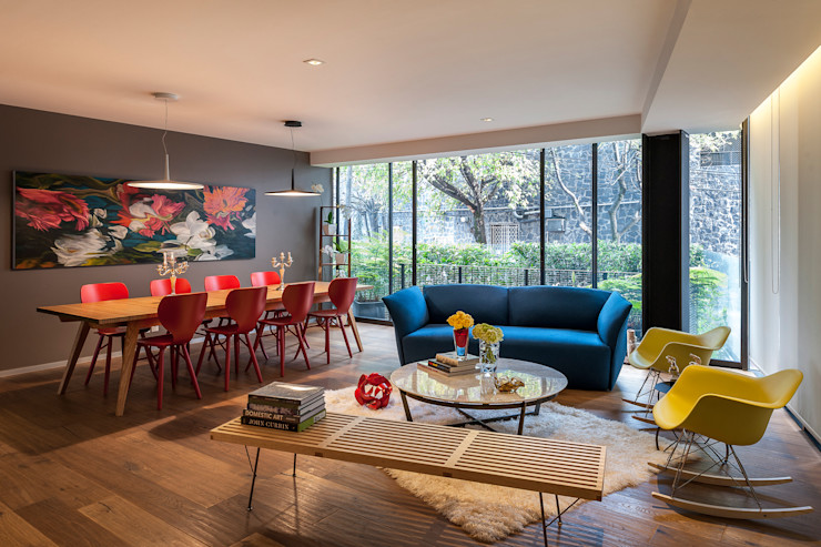 MAAD arquitectura y diseño Eclectic style living room