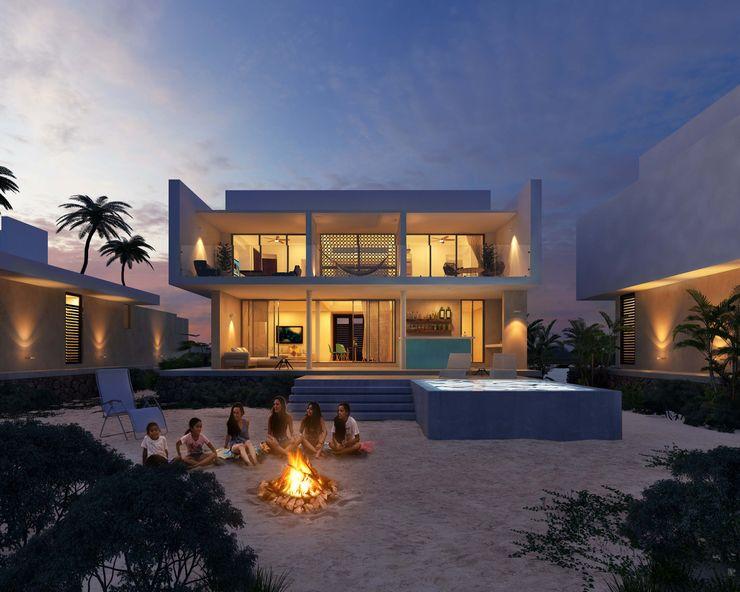 TNGNT arquitectos Casas de estilo moderno