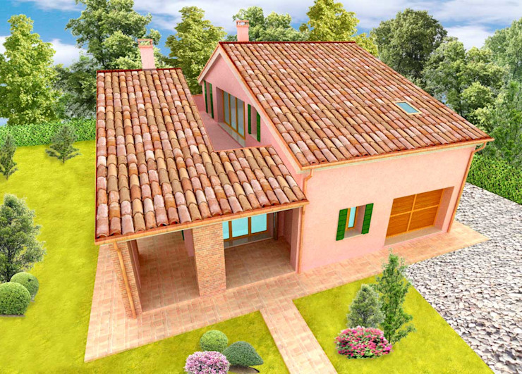 Casa Veneta architettiFAVARO Casa rurale Laterizio Rosa