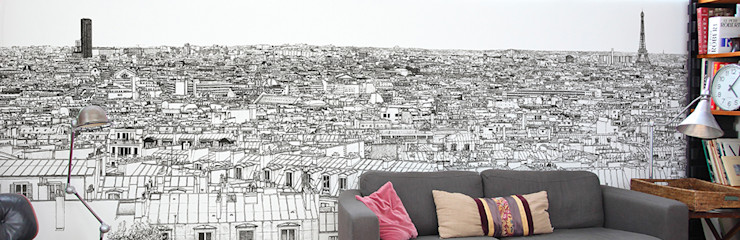Ohmywall Paredes y pisosPapeles pintados Papel Negro