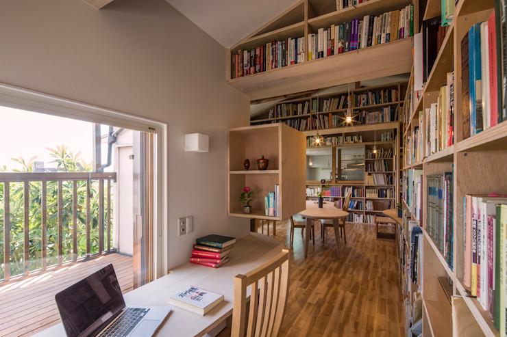 スズケン一級建築士事務所/Suzuken Architectural Design Office Modern Study Room and Home Office