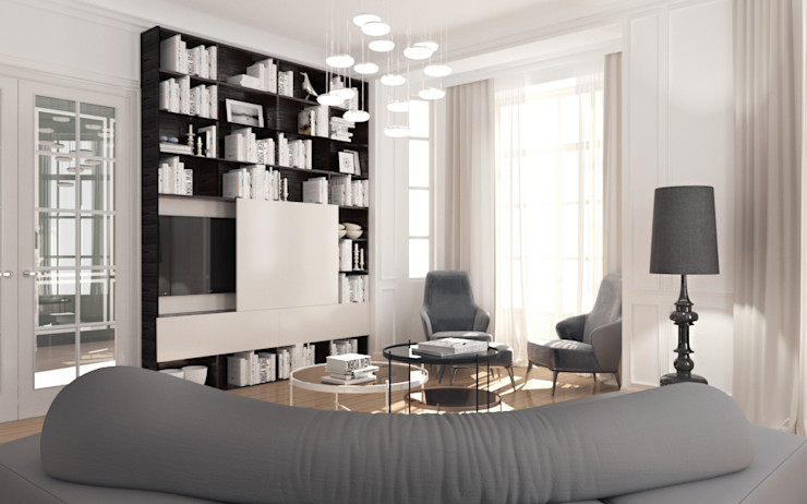 ZR-architects Living room White