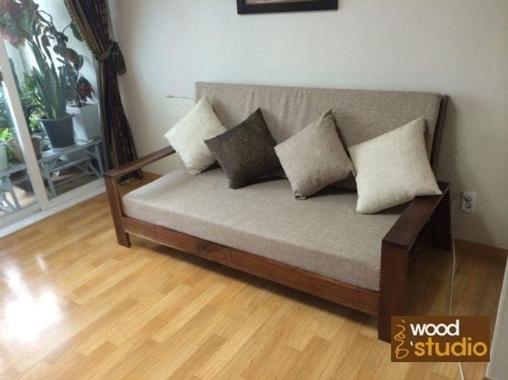 원목 소파 (walnut sofa) 홍스목공방 거실소파 & 안락 의자 우드