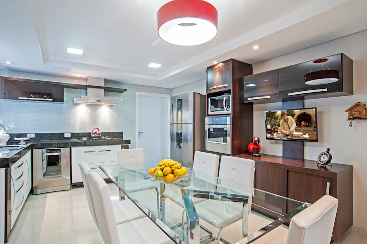 Patrícia Azoni Arquitetura + Arte & Design Cuisine moderne Effet bois