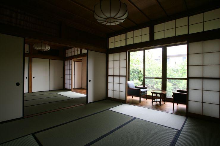 Kawanayama House (Renovation) Sakurayama-Architect-Design 和風デザインの 多目的室