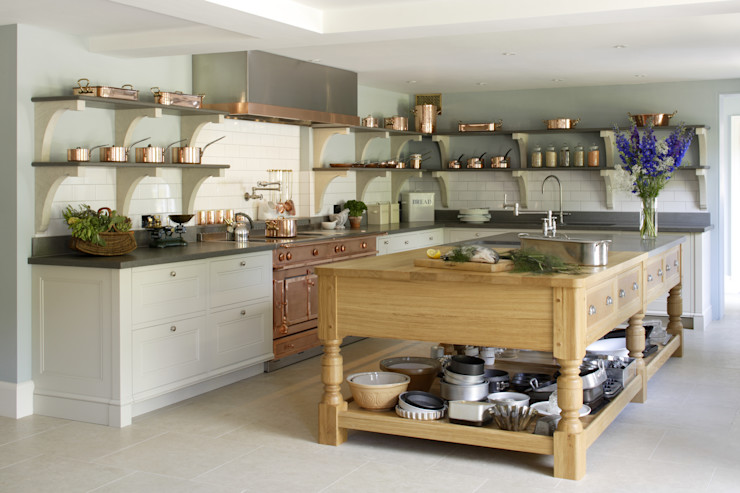 Edwardian English Country Cook's Kitchen Artichoke Kitchen Wood White