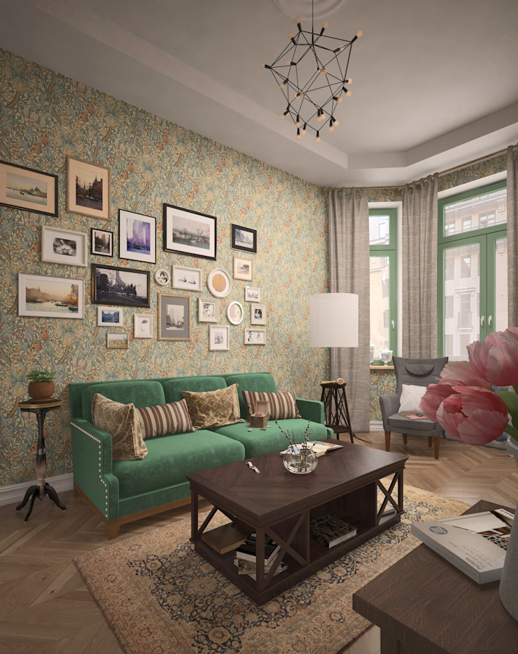 BMM Eclectic style living room