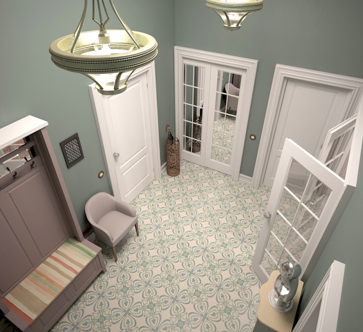 BMM Eclectic style corridor, hallway & stairs