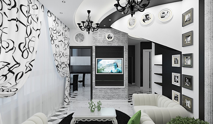 Alena Gorskaya Design Studio Living room White