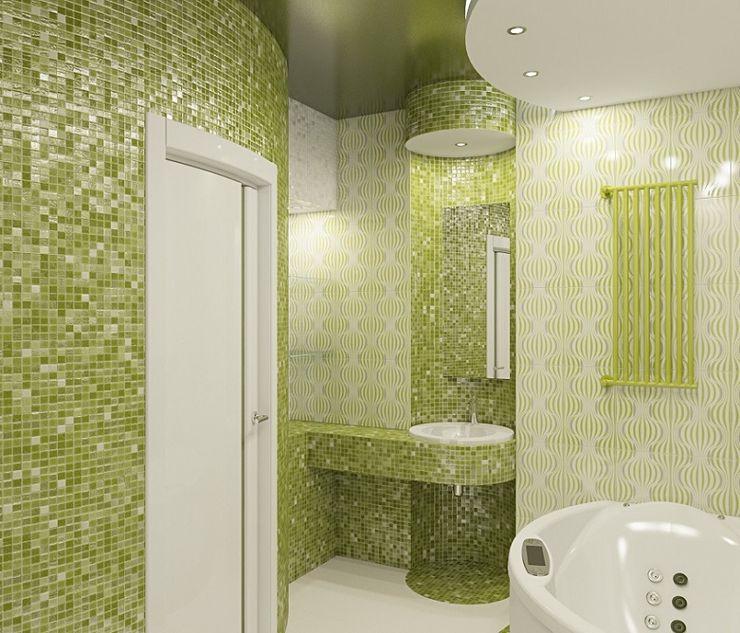 Alena Gorskaya Design Studio Eclectic style bathrooms Green