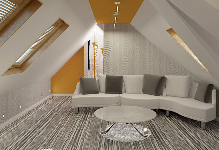 Alena Gorskaya Design Studio Eclectic style balcony, porch & terrace