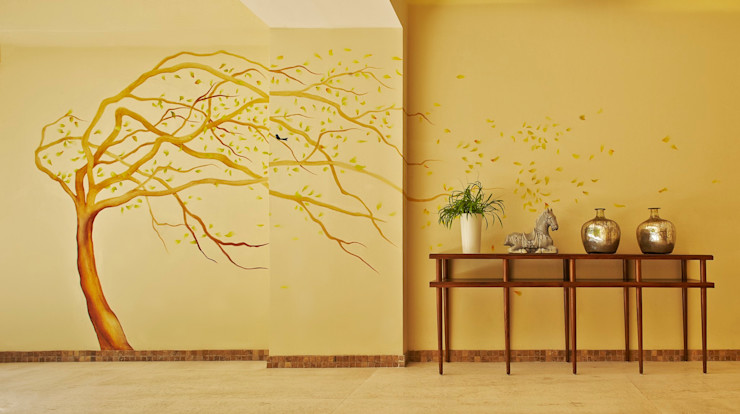 MC Design Eclectic walls & floors Marble Yellow