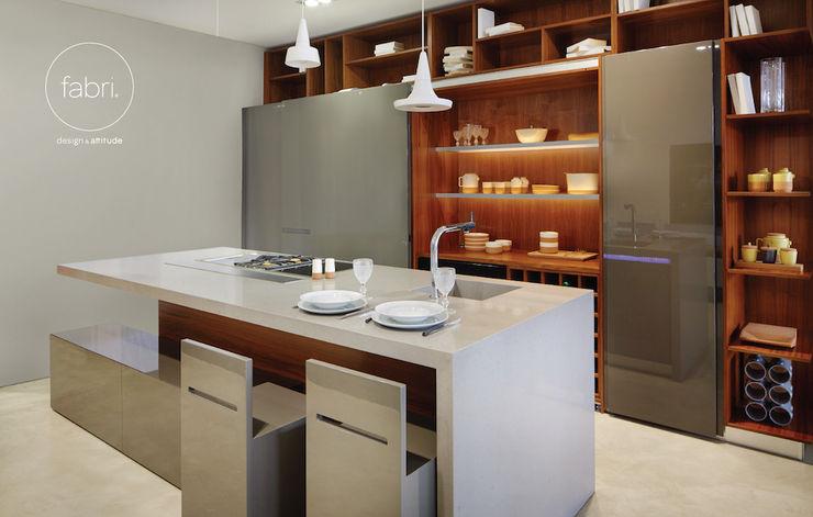 Rational luxury FABRI Modern kitchen Wood effect