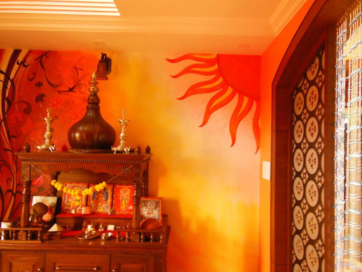 Rita Mody Joshi & Associates Paredes y pisos de estilo moderno