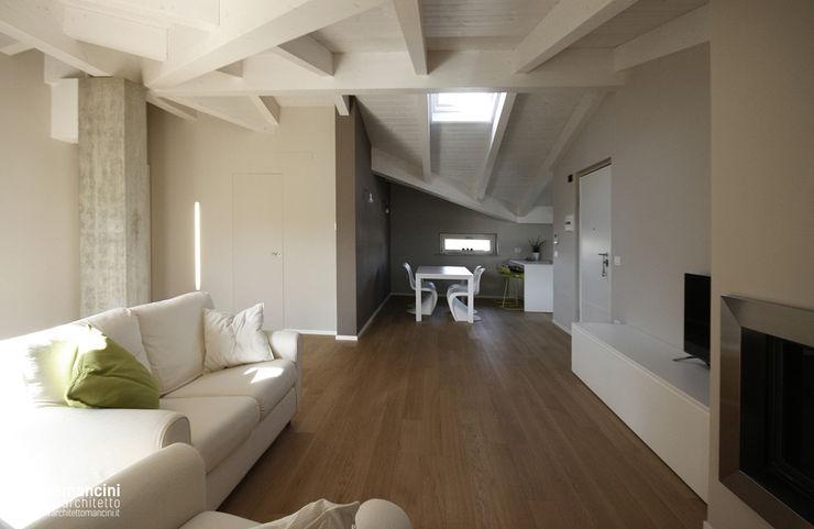 Mansarda Luca Mancini | Architetto Soggiorno moderno
