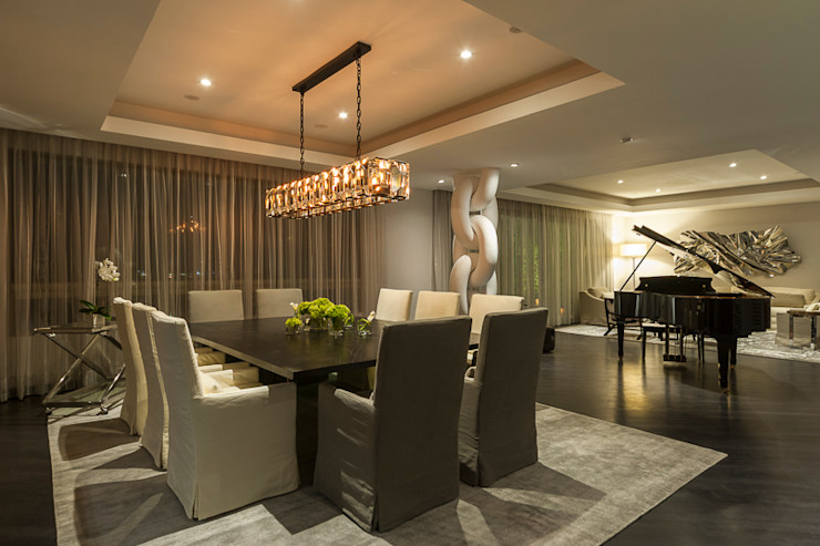 HO arquitectura de interiores غرفة السفرة
