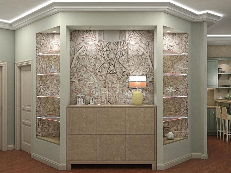 Alena Gorskaya Design Studio Living room Multicolored