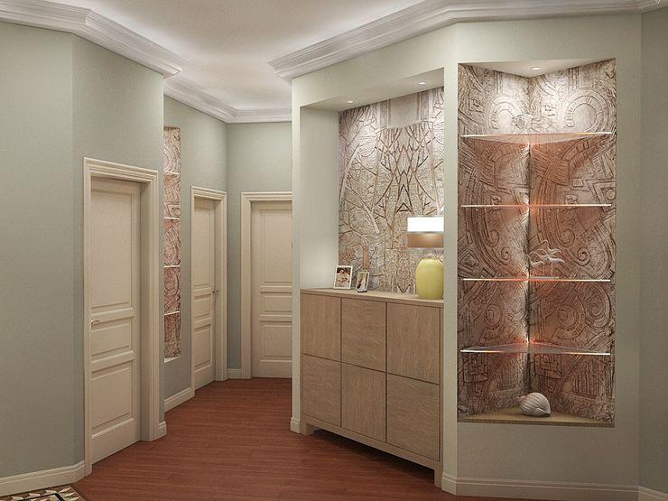 Alena Gorskaya Design Studio Country style corridor, hallway & stairs