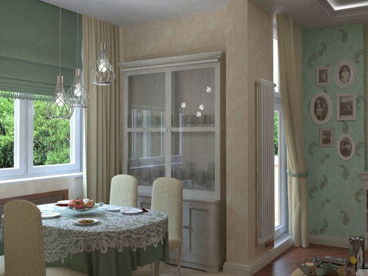 Alena Gorskaya Design Studio Country style balcony, porch & terrace Beige