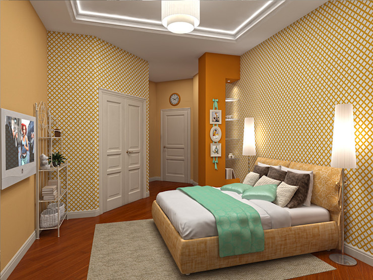 Alena Gorskaya Design Studio Nursery/kid's room Yellow