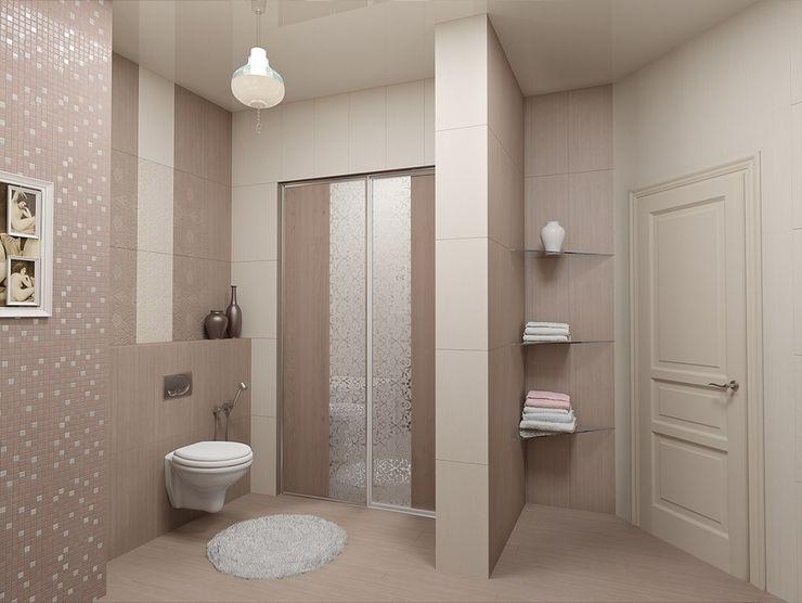 Alena Gorskaya Design Studio Country style bathrooms Beige