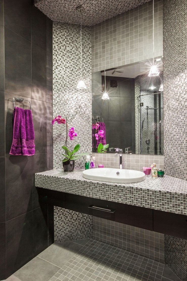Alena Gorskaya Design Studio Minimalist style bathrooms Beige