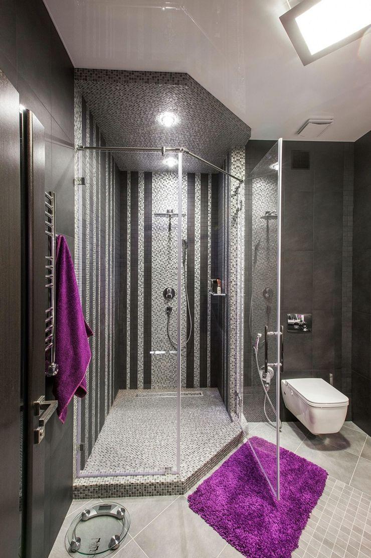 Alena Gorskaya Design Studio Minimalist style bathrooms Brown