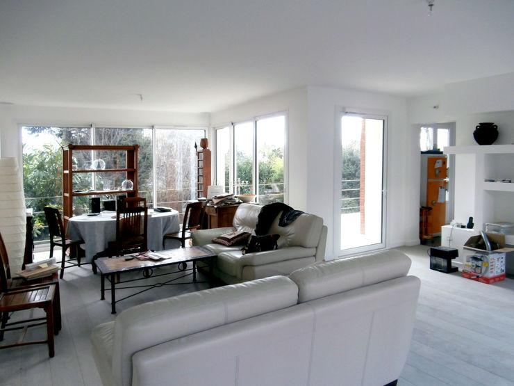 Olivier Stadler Architecte Modern living room White