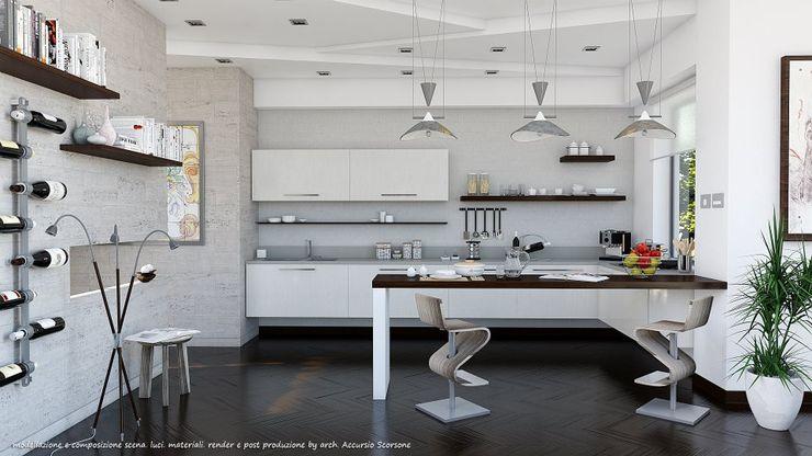 Project villa monofamiliare Studio di Architettura Cucina minimalista