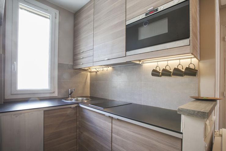 cristina velani Modern Kitchen Grey