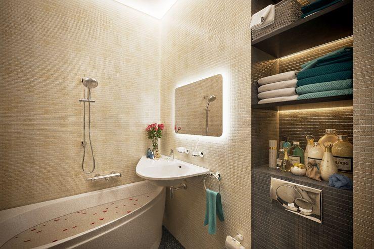 Lotos Design Modern bathroom Stone Beige