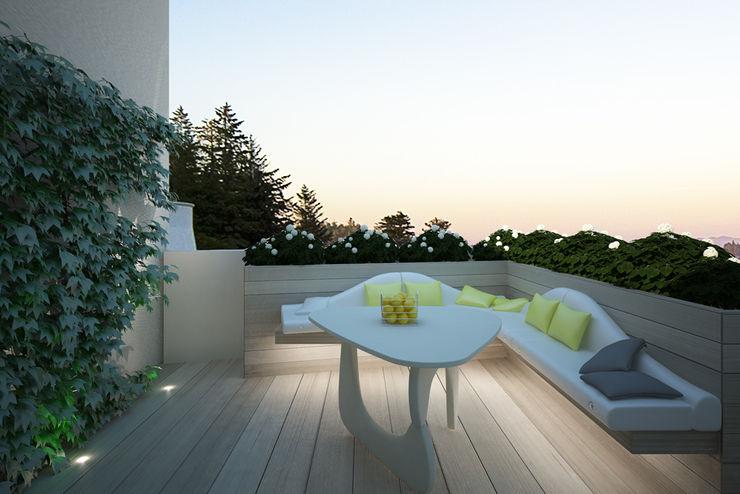 Progetto Architetto Valentina Longo Modern balcony, veranda & terrace