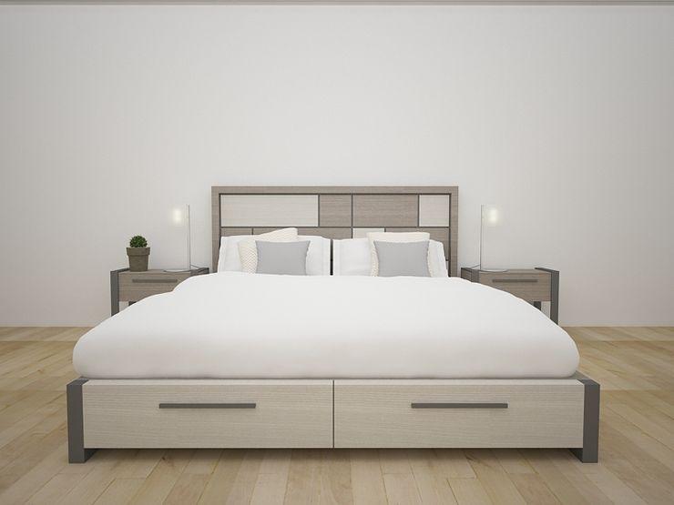 Propuesta enchapado Olmo y Fresno Teorema Arquitectura Dormitorios de estilo moderno