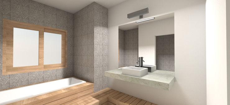 REMODELACIÓN ANNARATONE ELIZONDO ben arquitectos Modern bathroom