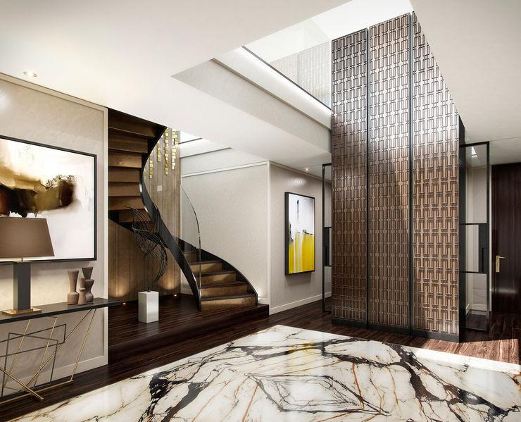 The Cricketers Folio Design Modern corridor, hallway & stairs