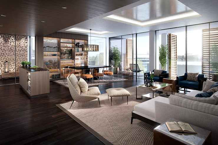The Cricketers Folio Design Modern living room