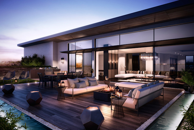 The Cricketers Folio Design Modern balcony, veranda & terrace