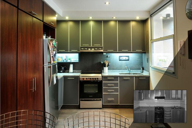 Cocina Radrizzani Rioja Arquitectos Cocinas de estilo minimalista Tablero DM Verde