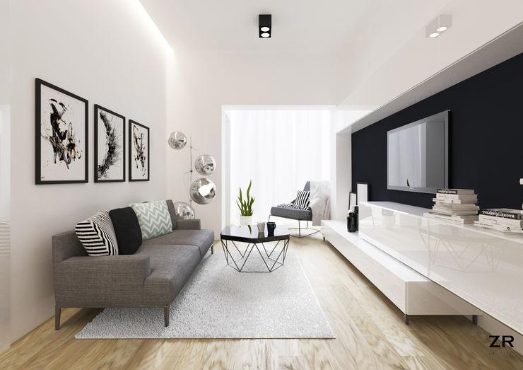 ZR-architects Modern Living Room