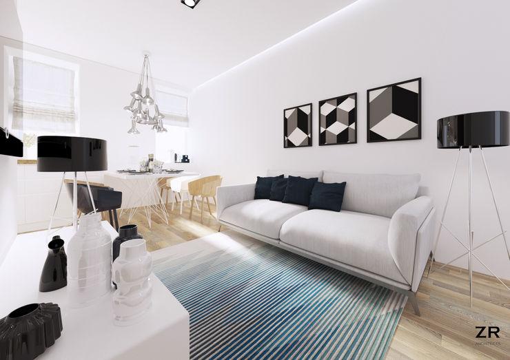 ZR-architects Ruang Keluarga Modern