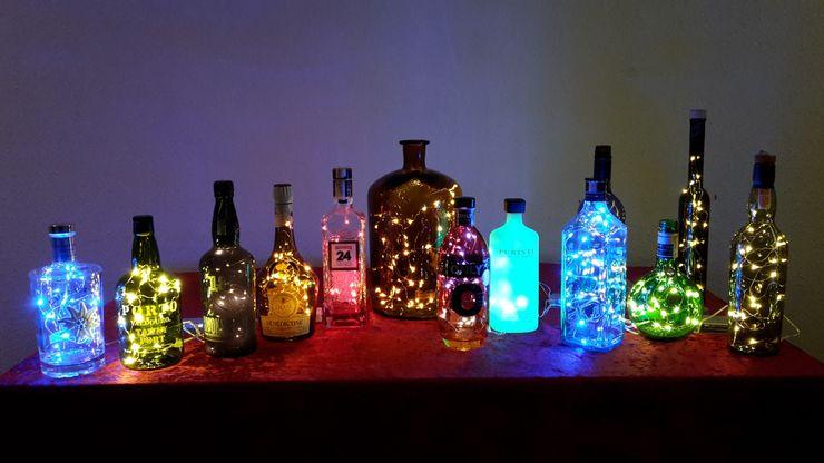 Ambiente LED Flaschen Deko Cocktailtumblers Geschäftsräume & Stores Glas