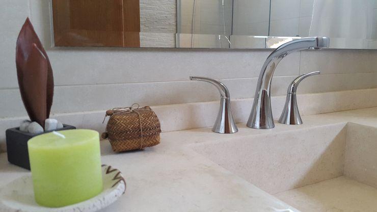 Arquitectura Laura Napoli Modern Bathroom Marble Beige