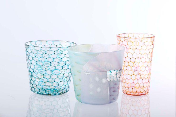 ツギハギグラスとイロアミグラス 吉村桂子 ダイニングルーム食器&ガラス製品
