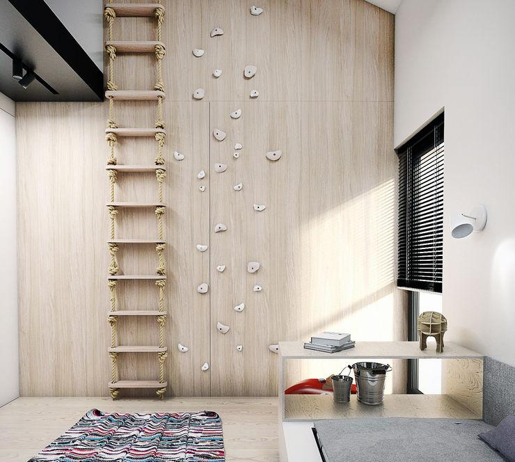 A2.STUDIO PRACOWNIA ARCHITEKTURY Dormitorios infantiles modernos