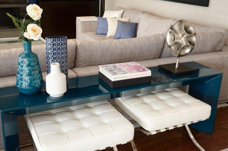 Atelier Susana Camelo 现代客厅設計點子、靈感 & 圖片 Blue