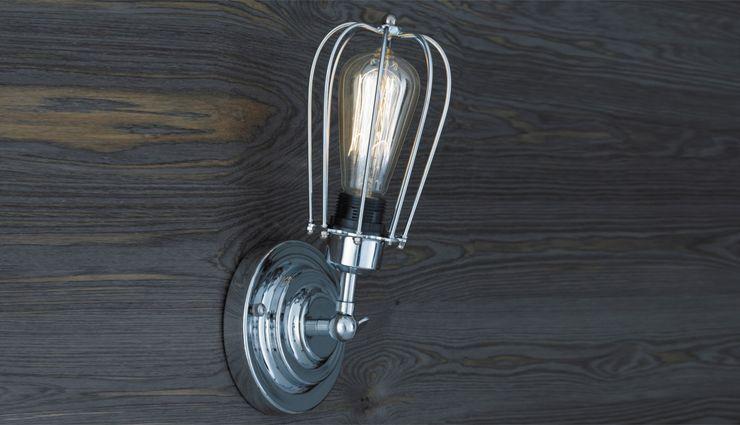 KOPENHAGEN LOFT CHROM WALL Altavola Design Sp. z o.o. Corridor, hallway & stairs Lighting Metallic/Silver