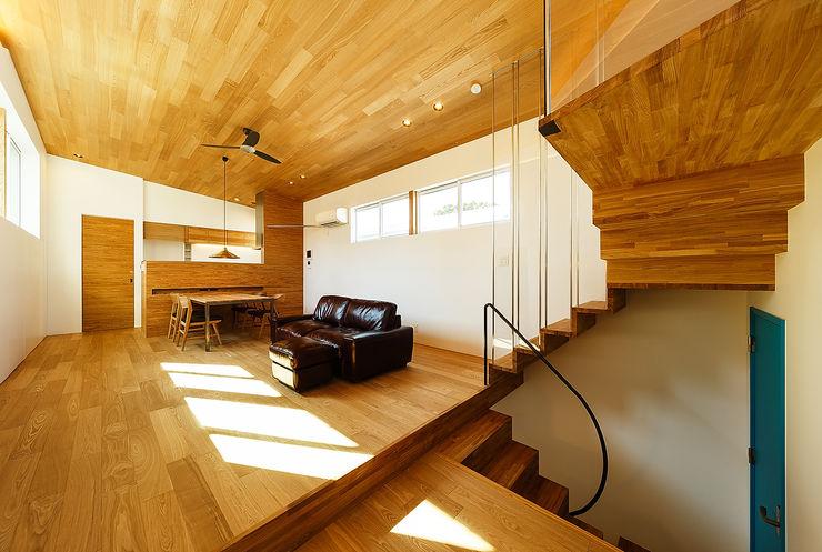 一級建築士事務所haus 스칸디나비아 거실 우드 우드 그레인