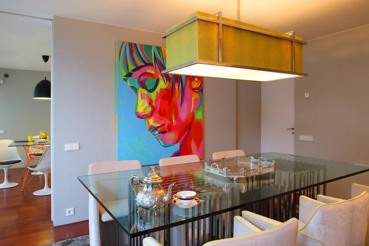 Atelier Susana Camelo Salas de jantar modernas Verde