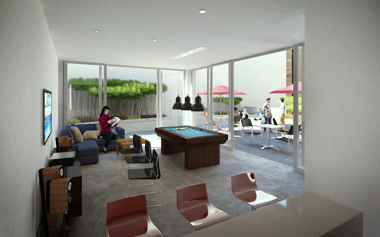 MIES GROUP 现代客厅設計點子、靈感 & 圖片