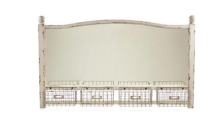 MIRROR ALURO LAMALI WITH BASKETS Altavola Design Sp. z o.o. Dressing roomMirrors Wood